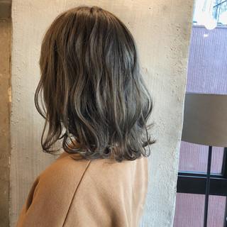 ナチュラル ロブ 外国人風カラー 涼しげ ヘアスタイルや髪型の写真・画像