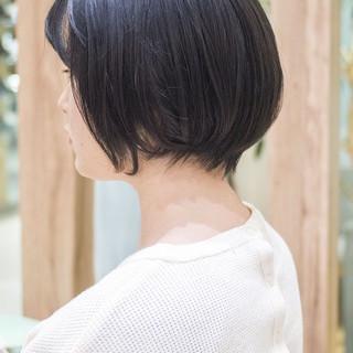 前下がり ミニボブ ショート 大人かわいい ヘアスタイルや髪型の写真・画像