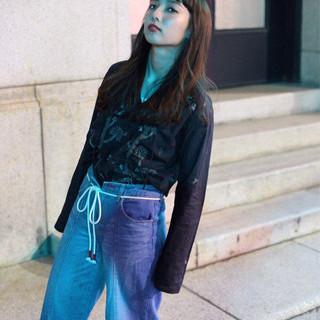アンニュイ モード 黒髪 ロング ヘアスタイルや髪型の写真・画像
