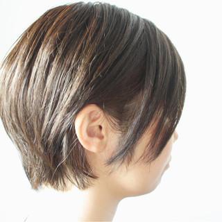 大人女子 田中美保 ショート ナチュラル ヘアスタイルや髪型の写真・画像