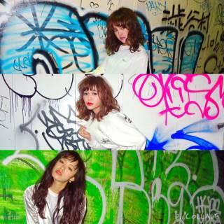 ストレート ストリート 暗髪 ミディアム ヘアスタイルや髪型の写真・画像