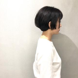 簡単スタイリング ショートヘア 大人ショート ショートボブ ヘアスタイルや髪型の写真・画像