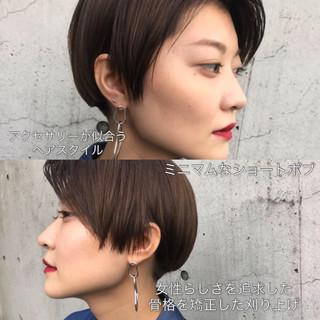 こなれ感 刈り上げ ショート モード ヘアスタイルや髪型の写真・画像