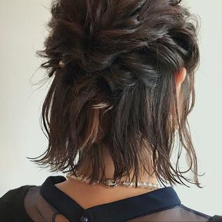 ヘアアレンジ ナチュラル 二次会 結婚式 ヘアスタイルや髪型の写真・画像