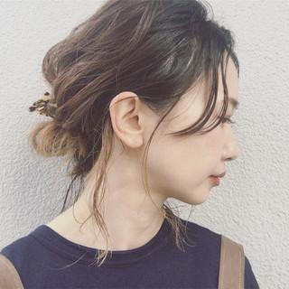 ヘアアレンジ 色気 夏 ナチュラル ヘアスタイルや髪型の写真・画像