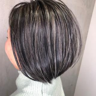 ボブ 外国人風カラー アンニュイほつれヘア アウトドア ヘアスタイルや髪型の写真・画像