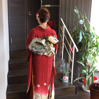 結婚式髪型 セミロング 成人式 結婚式 ヘアスタイルや髪型の写真・画像