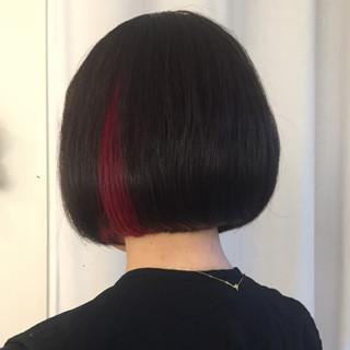 インナーカラー ボブ ダブルカラー モード ヘアスタイルや髪型の写真・画像