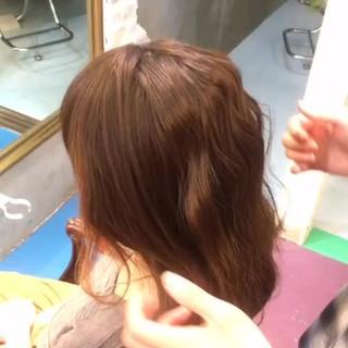簡単ヘアアレンジ ハーフアップ ミディアム 大人かわいい ヘアスタイルや髪型の写真・画像