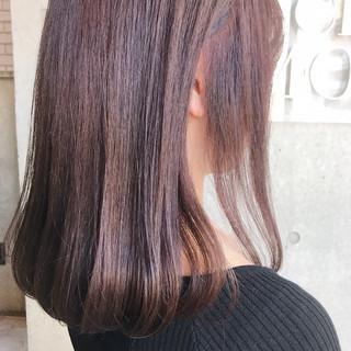 ラベンダーピンク 大人可愛い チェリーピンク ピンクラベンダー ヘアスタイルや髪型の写真・画像