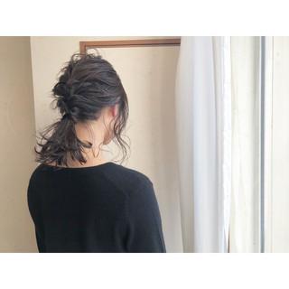 結婚式 ヘアアレンジ アンニュイほつれヘア セミロング ヘアスタイルや髪型の写真・画像