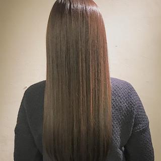 ミルクティー ロング ナチュラル きれいめ ヘアスタイルや髪型の写真・画像