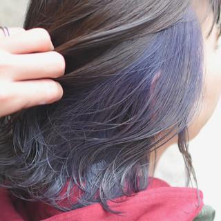 ヘアアレンジ ストリート ダブルカラー ボブ ヘアスタイルや髪型の写真・画像