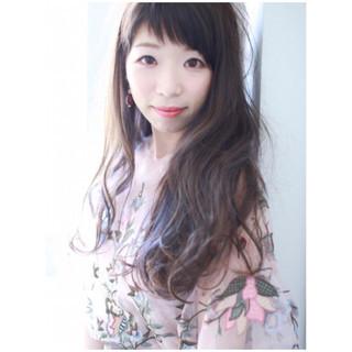 色気 リラックス 透明感 斜め前髪 ヘアスタイルや髪型の写真・画像