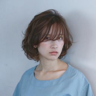 ゆるふわ 前髪あり 色気 パーマ ヘアスタイルや髪型の写真・画像