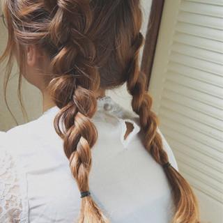 夏 ヘアアレンジ セミロング ショート ヘアスタイルや髪型の写真・画像