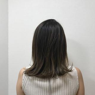ニュアンス ナチュラル ミディアム ボブ ヘアスタイルや髪型の写真・画像