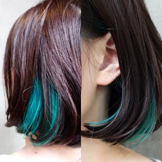 アッシュ グラデーションカラー ボブ モード ヘアスタイルや髪型の写真・画像