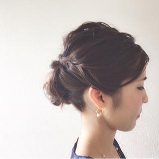 ヘアアレンジ 大人女子 ミディアム 簡単ヘアアレンジ ヘアスタイルや髪型の写真・画像 ヘアスタイルや髪型の写真・画像