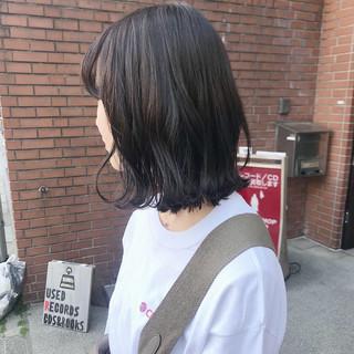 透明感カラー ボブ グレージュ ショートボブ ヘアスタイルや髪型の写真・画像