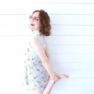 シースルーバング ボブ 外国人風カラー ヘアアレンジ ヘアスタイルや髪型の写真・画像