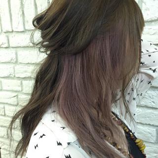ストリート インナーカラー アッシュ イルミナカラー ヘアスタイルや髪型の写真・画像
