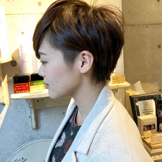 ハンサムショート ショートカット ツーブロック ショート ヘアスタイルや髪型の写真・画像