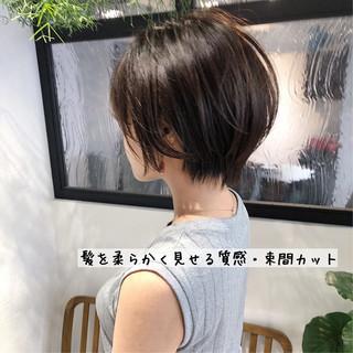 ストレート ショートボブ 縮毛矯正 ナチュラル ヘアスタイルや髪型の写真・画像   本田 重人 / GRAFF hair