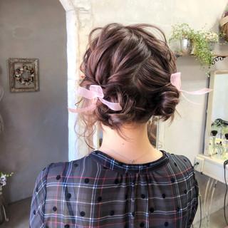 女子会 ヘアアレンジ ツインテール お団子 ヘアスタイルや髪型の写真・画像