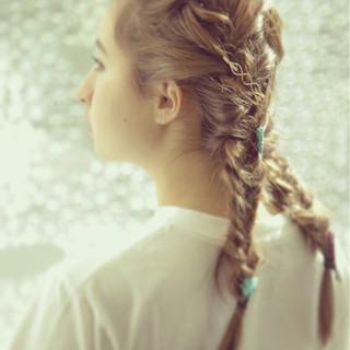 ショート ハイライト 外国人風 ヘアアレンジ ヘアスタイルや髪型の写真・画像