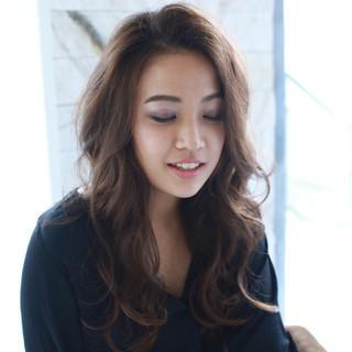 ロング 外国人風 大人かわいい フェミニン ヘアスタイルや髪型の写真・画像