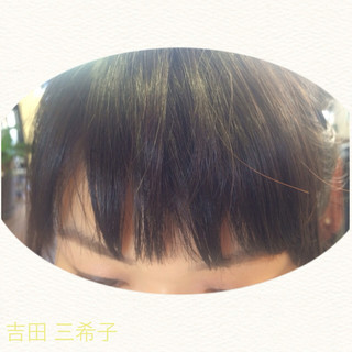 前髪パッツン ショートバング 前髪あり ショート ヘアスタイルや髪型の写真・画像 ヘアスタイルや髪型の写真・画像