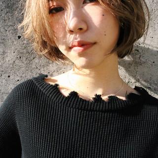 ブロンドカラー ボブ 外国人風 外国人風カラー ヘアスタイルや髪型の写真・画像