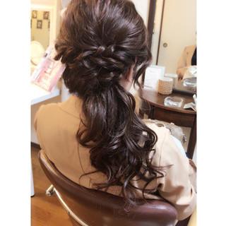 女子会 ロング 上品 大人かわいい ヘアスタイルや髪型の写真・画像
