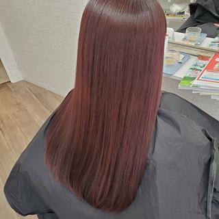 ロング ストカール 艶髪 縮毛矯正 ヘアスタイルや髪型の写真・画像