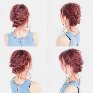ショート ヘアアレンジ フェミニン 簡単ヘアアレンジ ヘアスタイルや髪型の写真・画像 ヘアスタイルや髪型の写真・画像