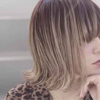 モード 女子力 切りっぱなし ボブ ヘアスタイルや髪型の写真・画像