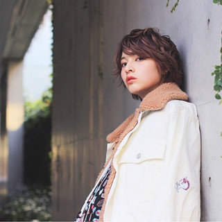 ショート 外国人風 ガーリー 大人女子 ヘアスタイルや髪型の写真・画像