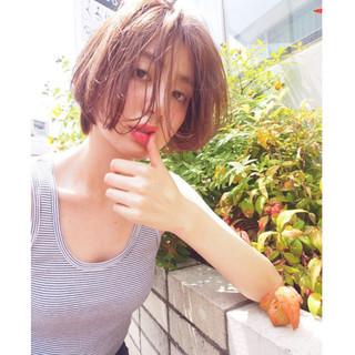ショート パーマ 簡単 ピュア ヘアスタイルや髪型の写真・画像