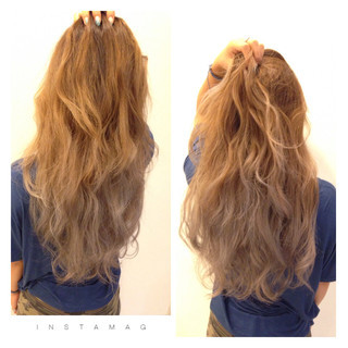 ロング 外国人風 イルミナカラー グラデーションカラー ヘアスタイルや髪型の写真・画像