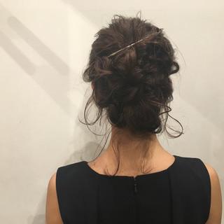 結婚式 ヘアアレンジ 上品 エレガント ヘアスタイルや髪型の写真・画像