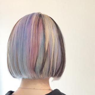グラデーションカラー ハイライト 透明感 ピンク ヘアスタイルや髪型の写真・画像