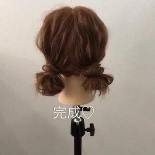 ショート ツインテール ヘアアレンジ セミロング ヘアスタイルや髪型の写真・画像