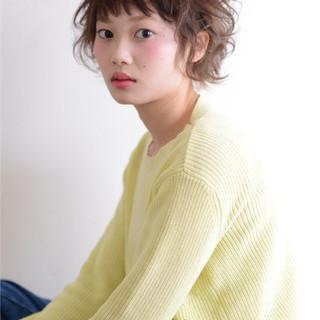 ショート かわいい ヘアアレンジ ガーリー ヘアスタイルや髪型の写真・画像