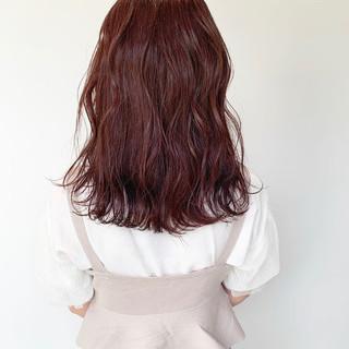 アンニュイほつれヘア ナチュラル 透明感カラー セミロング ヘアスタイルや髪型の写真・画像