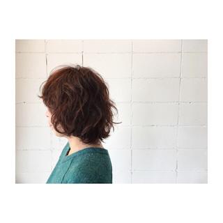 ボブ ナチュラル パーマ 外国人風 ヘアスタイルや髪型の写真・画像