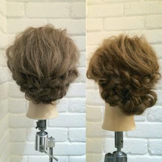 ゆるふわ セミロング ヘアアレンジ フェミニン ヘアスタイルや髪型の写真・画像 ヘアスタイルや髪型の写真・画像