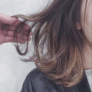 ミディアム バレイヤージュ ストリート 外国人風カラー ヘアスタイルや髪型の写真・画像
