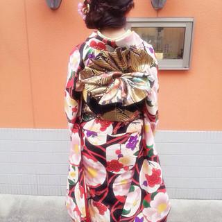 成人式 ロング 振袖 ヘアアレンジ ヘアスタイルや髪型の写真・画像