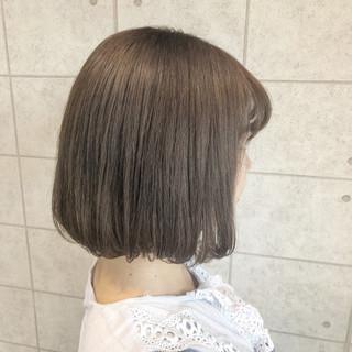 イルミナカラー ミルクティーベージュ クリーミーカラー ボブ ヘアスタイルや髪型の写真・画像